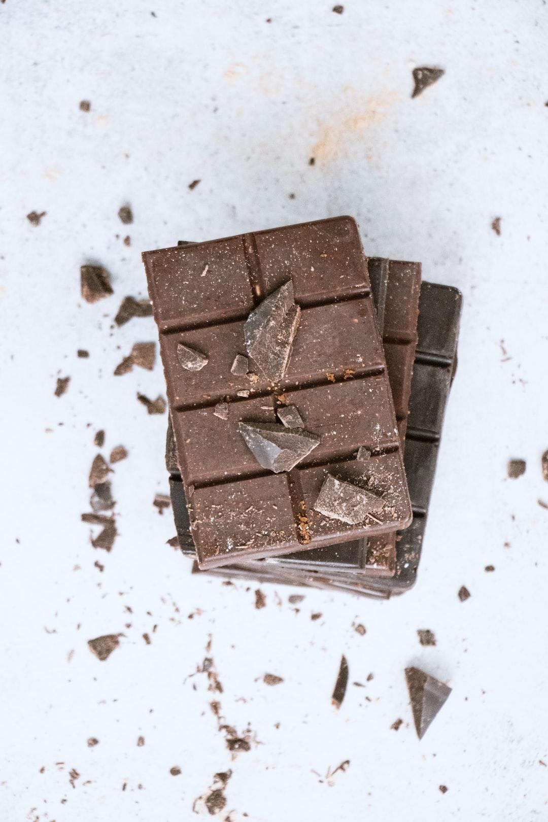 Vegan homemade chocolate