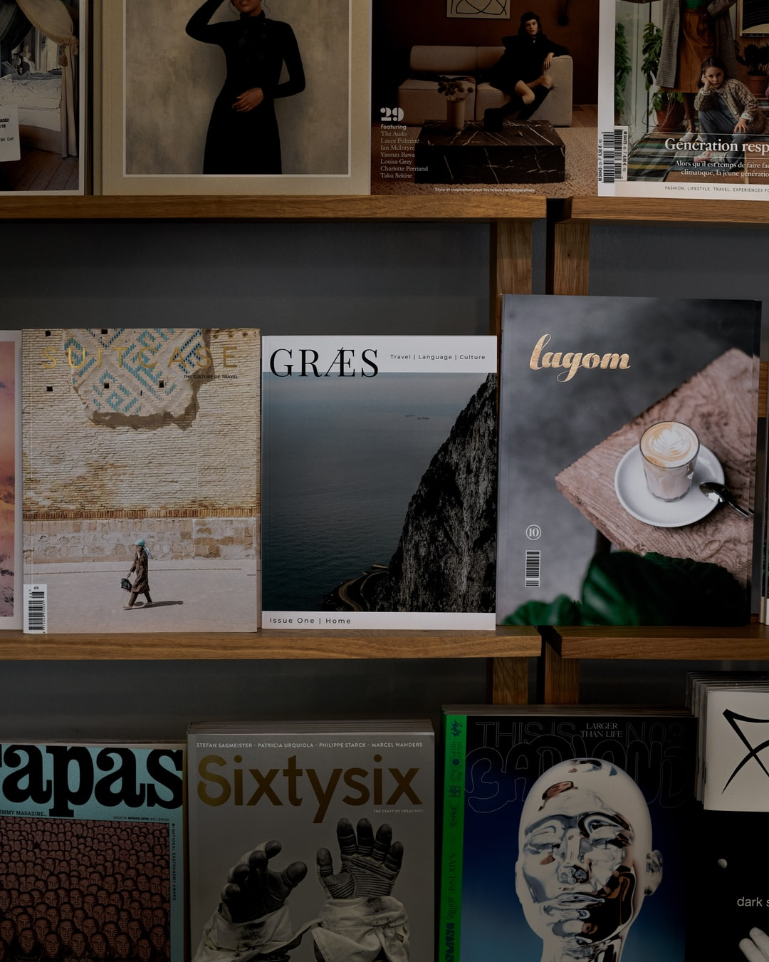 GRÆS and several other indie magazines in a shop called Rosa Wolf in Berlin, Germany
