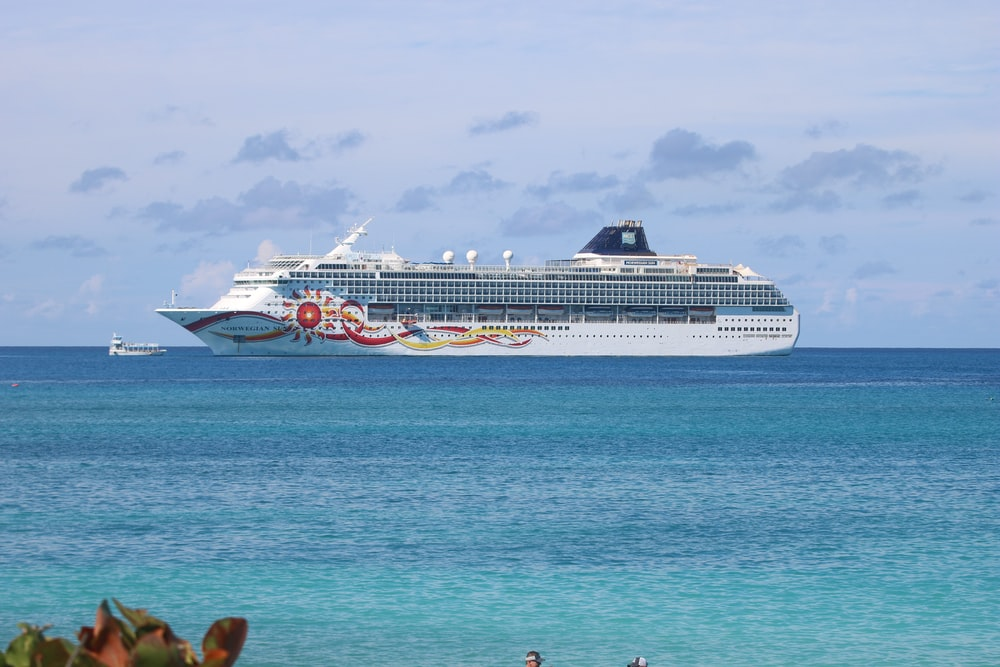white cruiseship in the middle of ocean