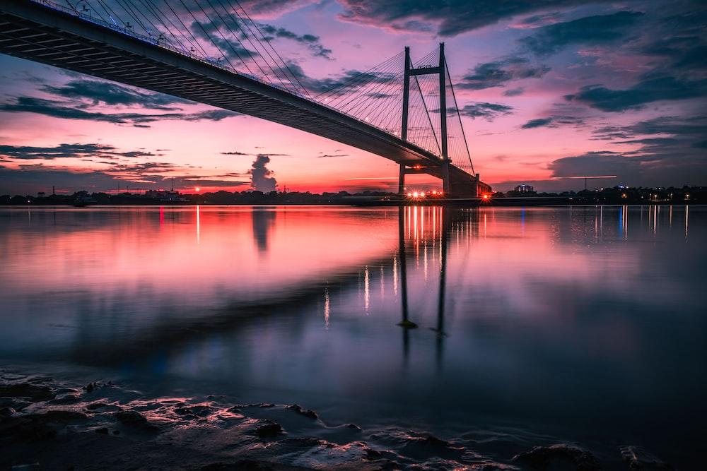 golden hour at bridge