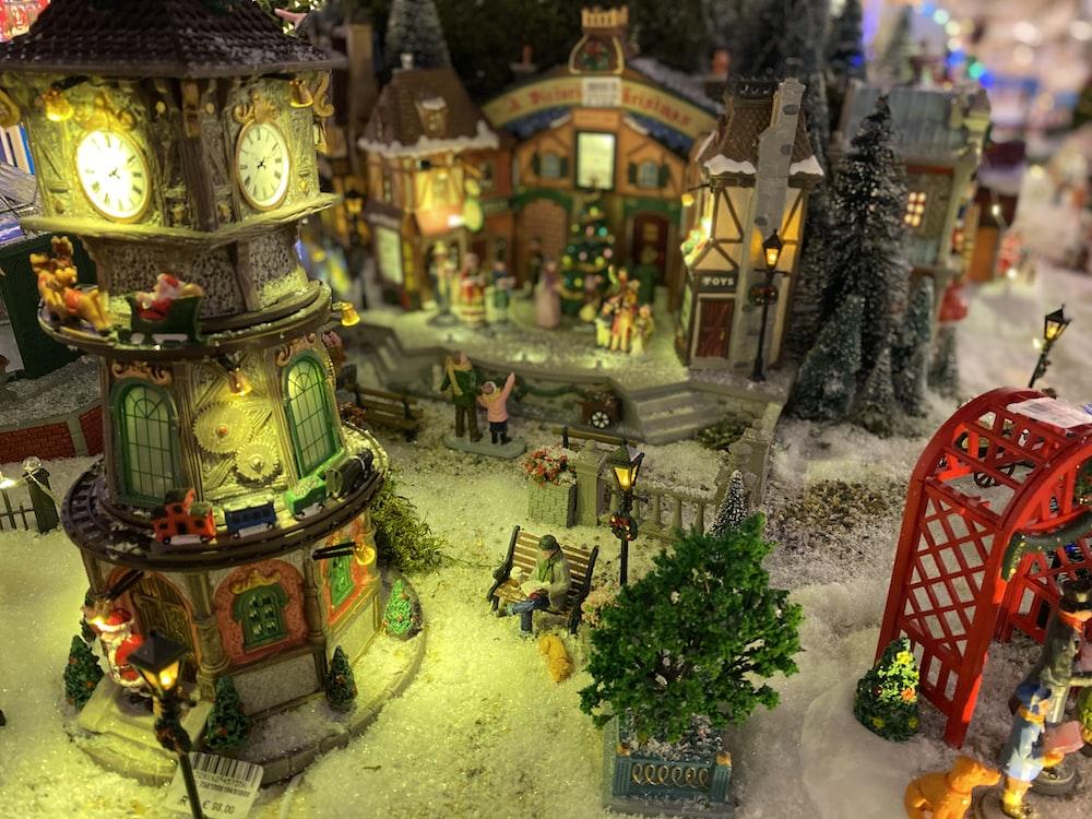 Christmas village model
