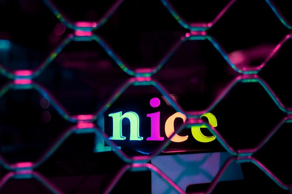 nice neon signage