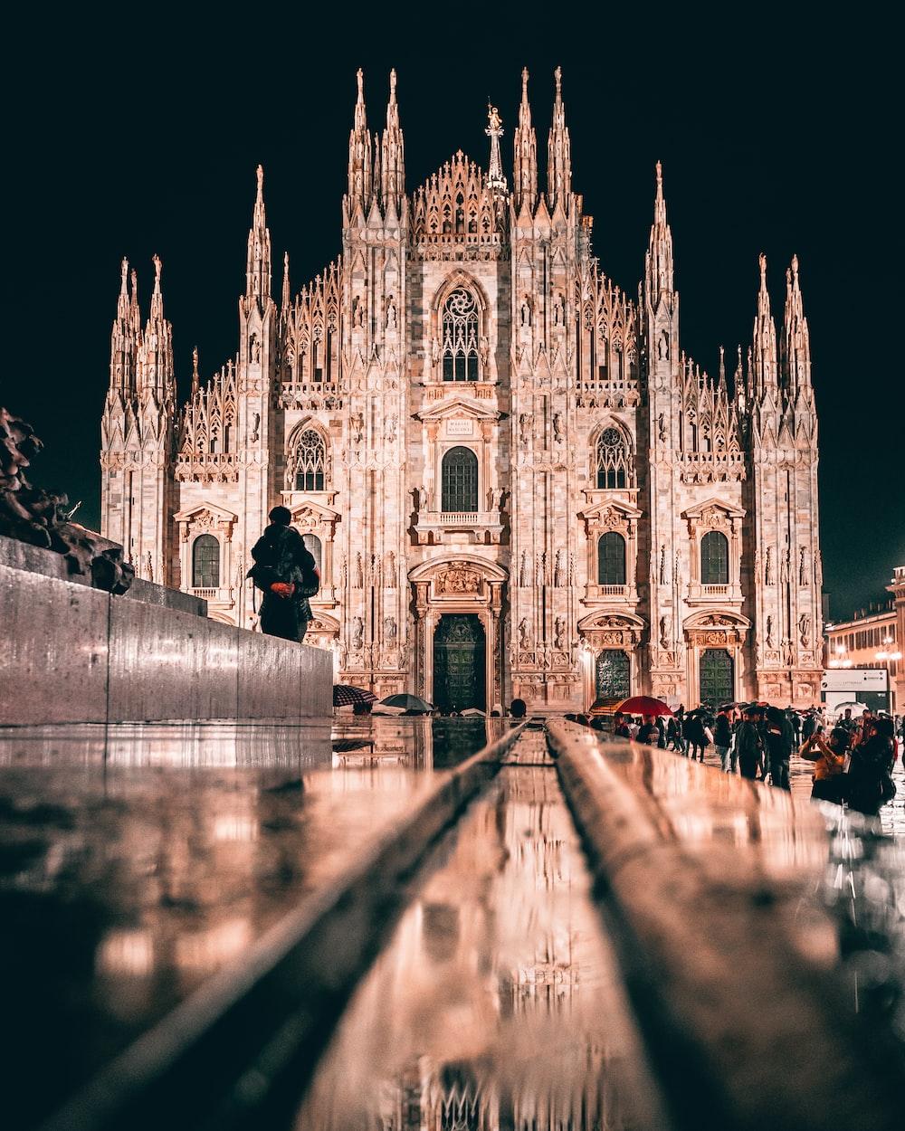Milan Cathedral, Italy at night