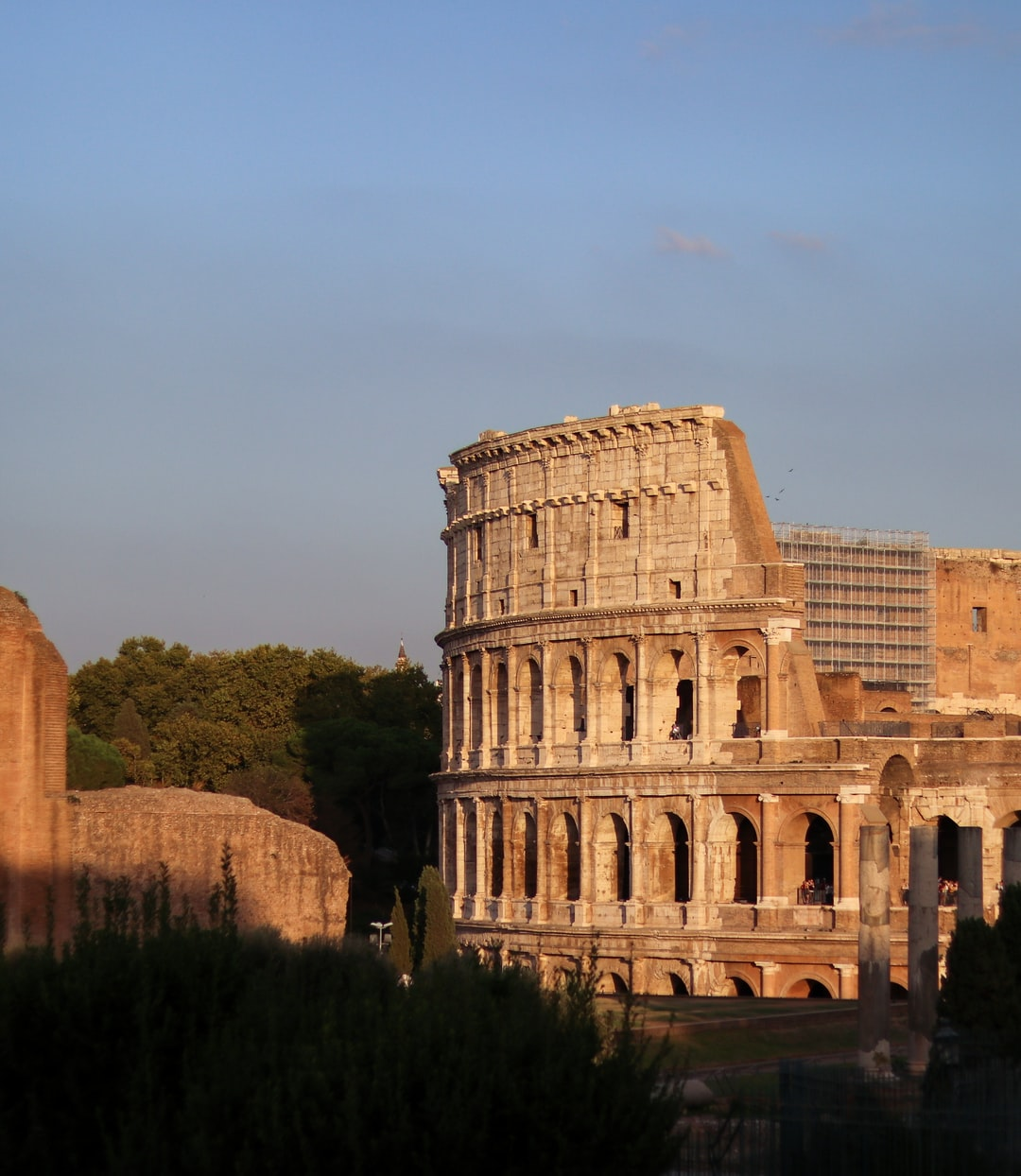 View of the Colloseum from Roman Forums