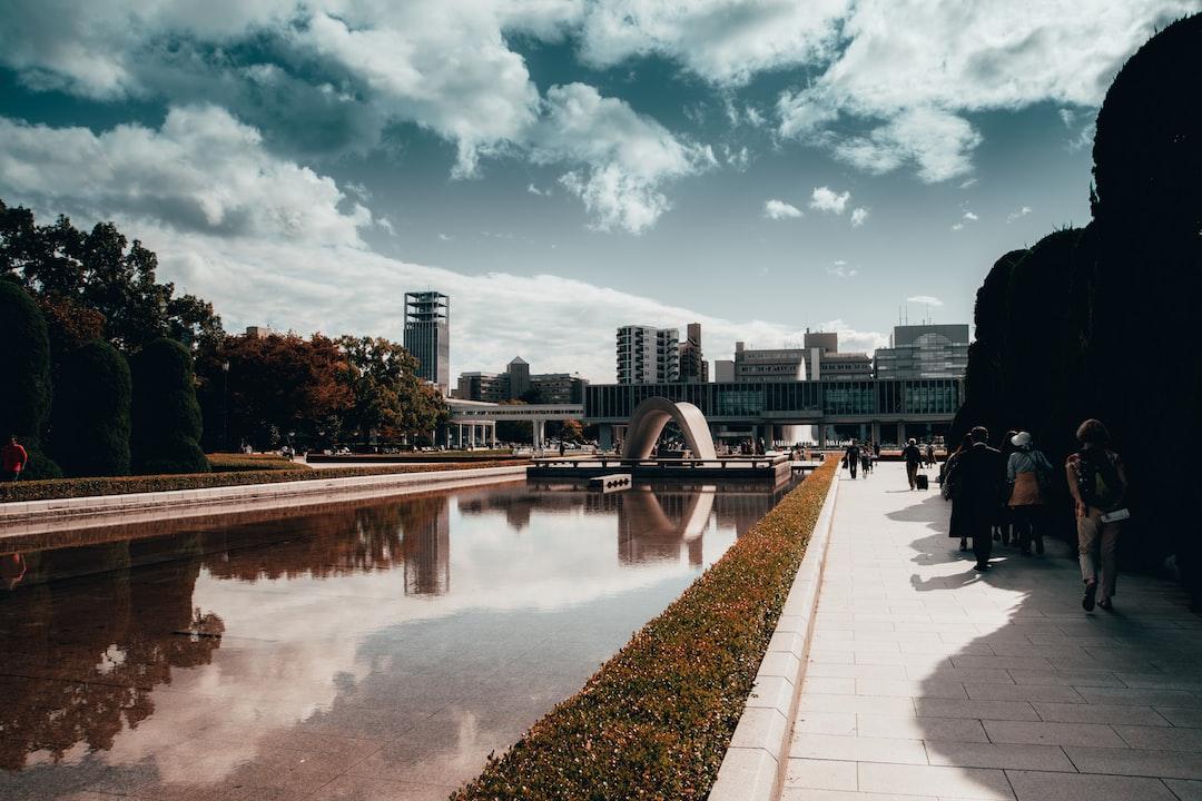 A memorial for Hiroshima nuclear bomb victims