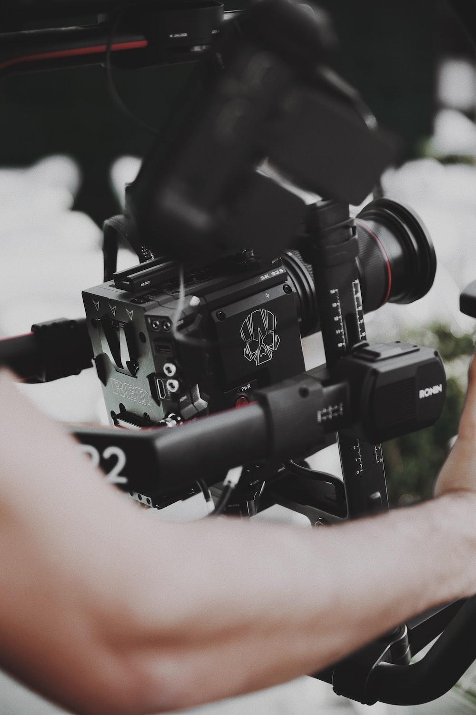 person using studio camera