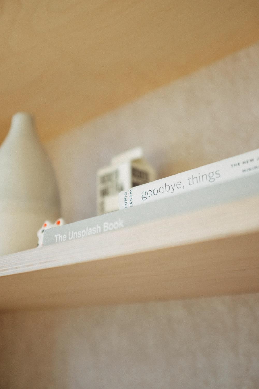 Goodbye Things book on shelf