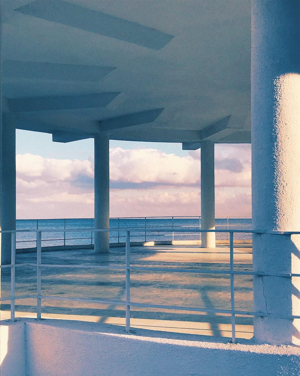 white concrete building pillar