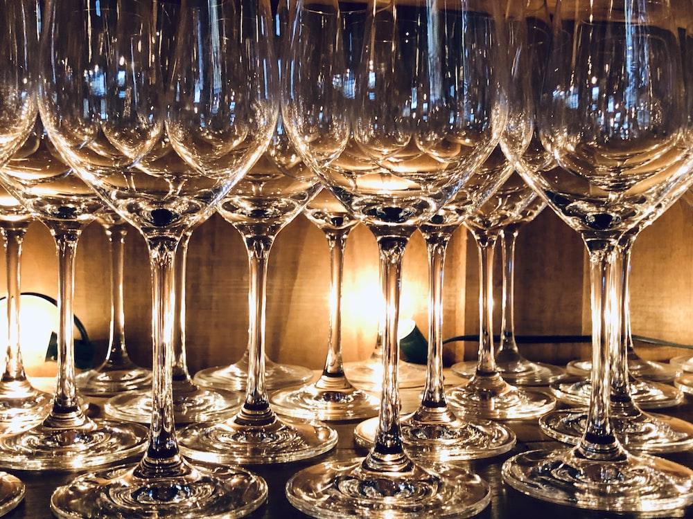 photo of goblet glasses