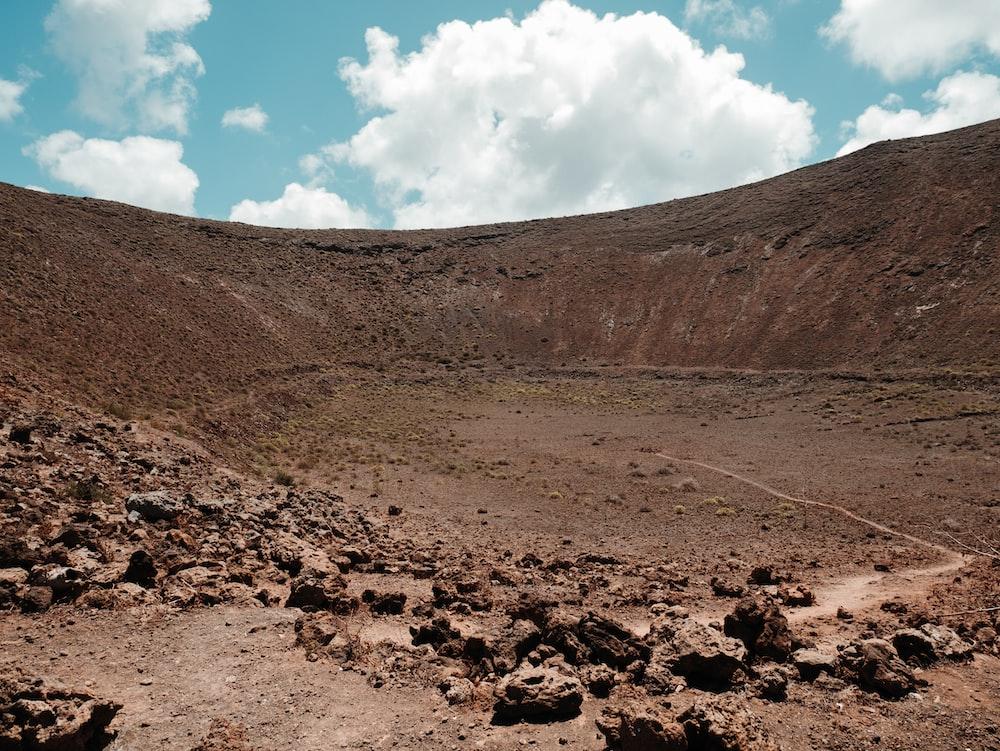brown crater