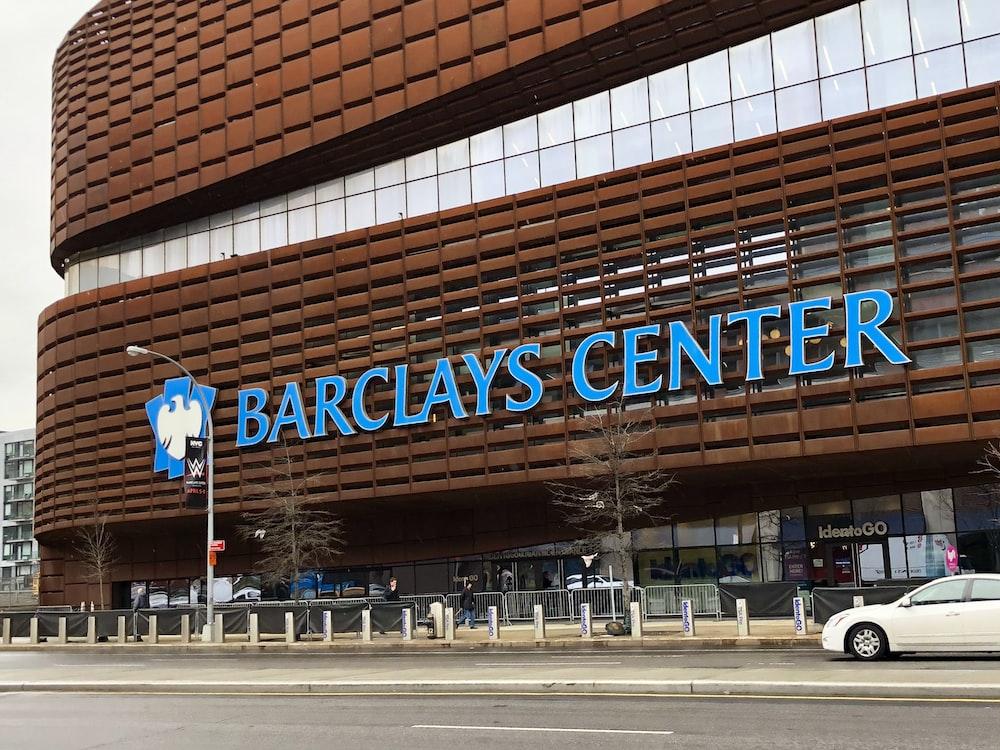 white vehicle near Barclays Center