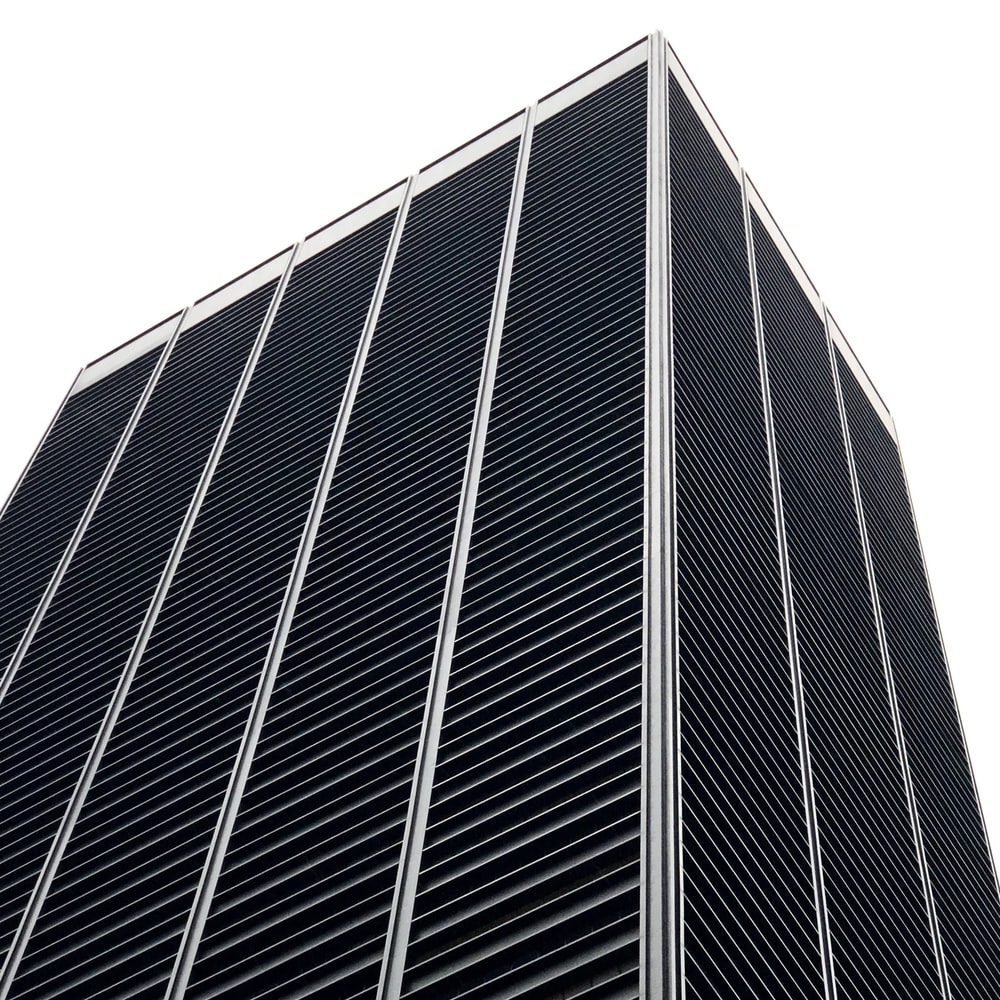black and gray building
