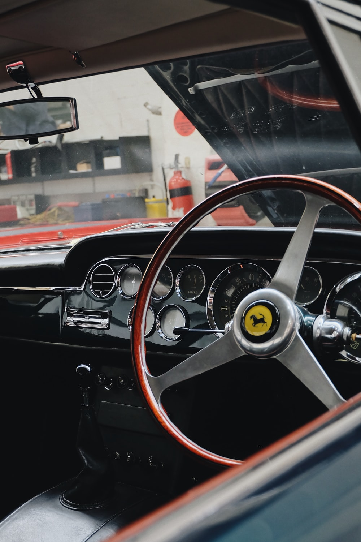 red Ferrari steering wheel