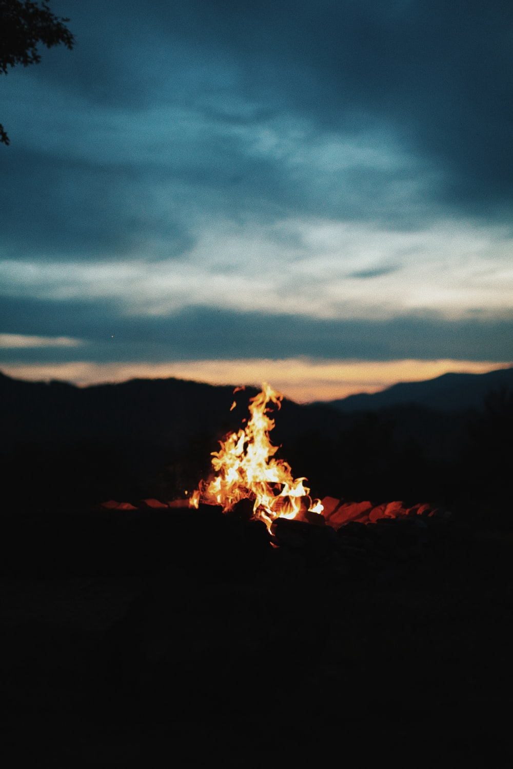 photography of bonfire during nighttime