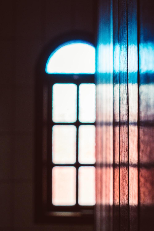 silhouette of window pane