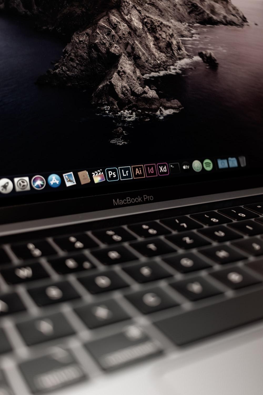 MacBook Pro displaying island