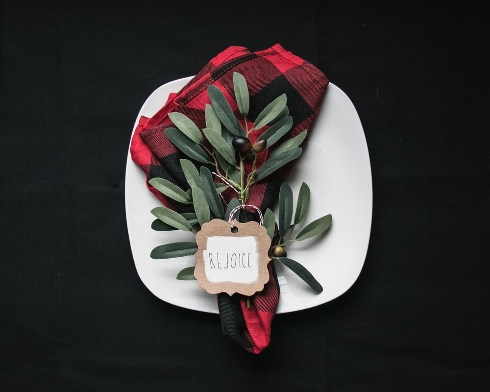 green leafed plant on white plate