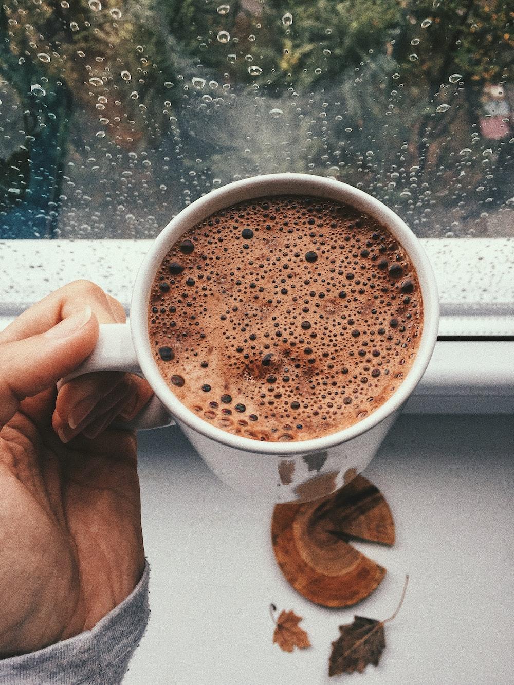 filled coffee mug