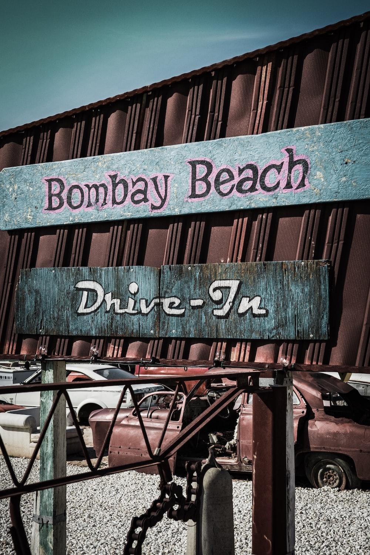 Bombay beach signage