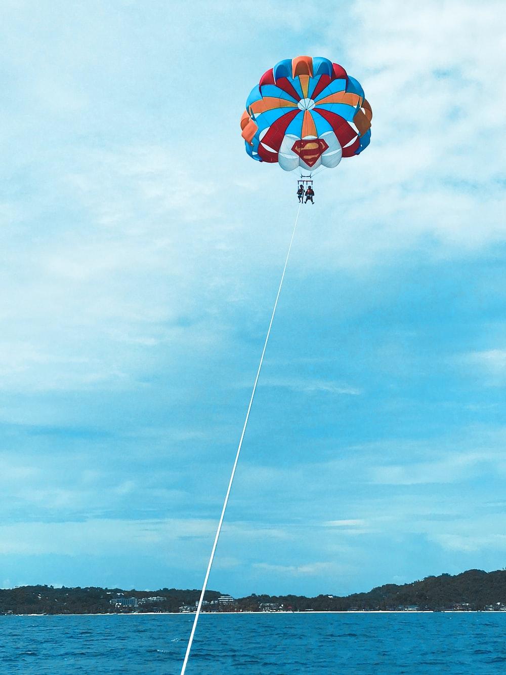 people parasailing