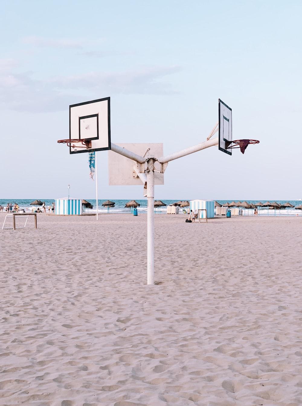white basket ball hook