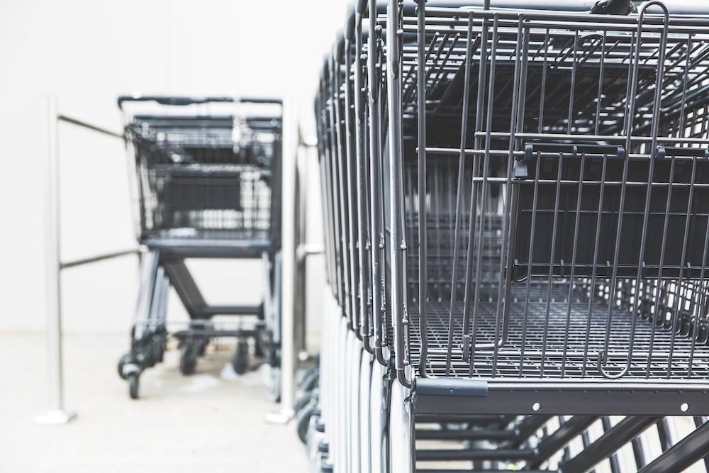 gray shopping cart