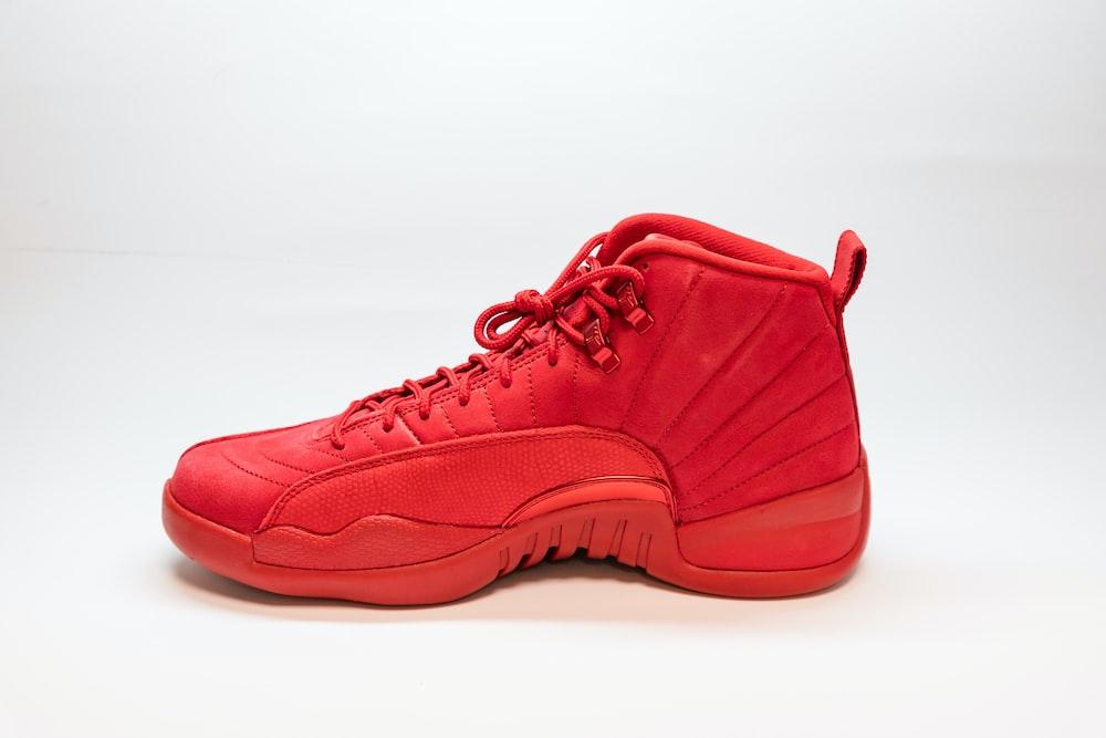 unpaired red Air Jordan 12