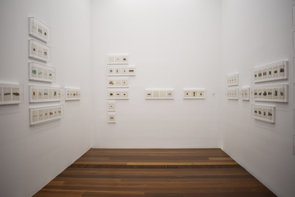 white wall full of electric sockets