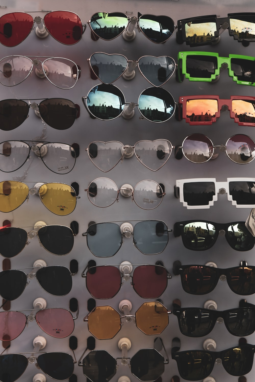 assorted-color sunglasses lot