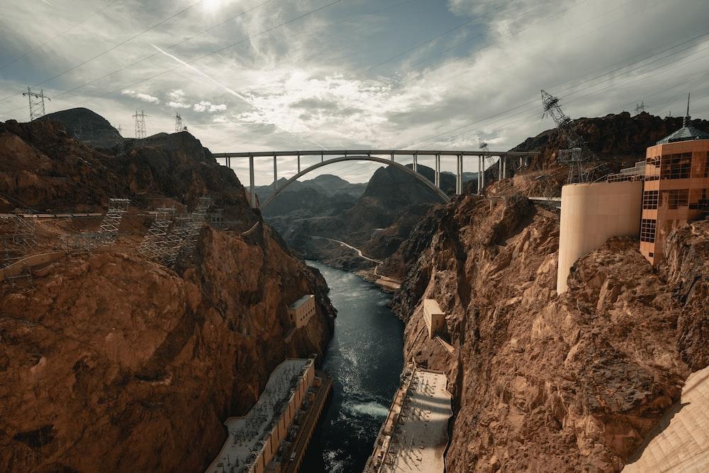 bridge under grey sky