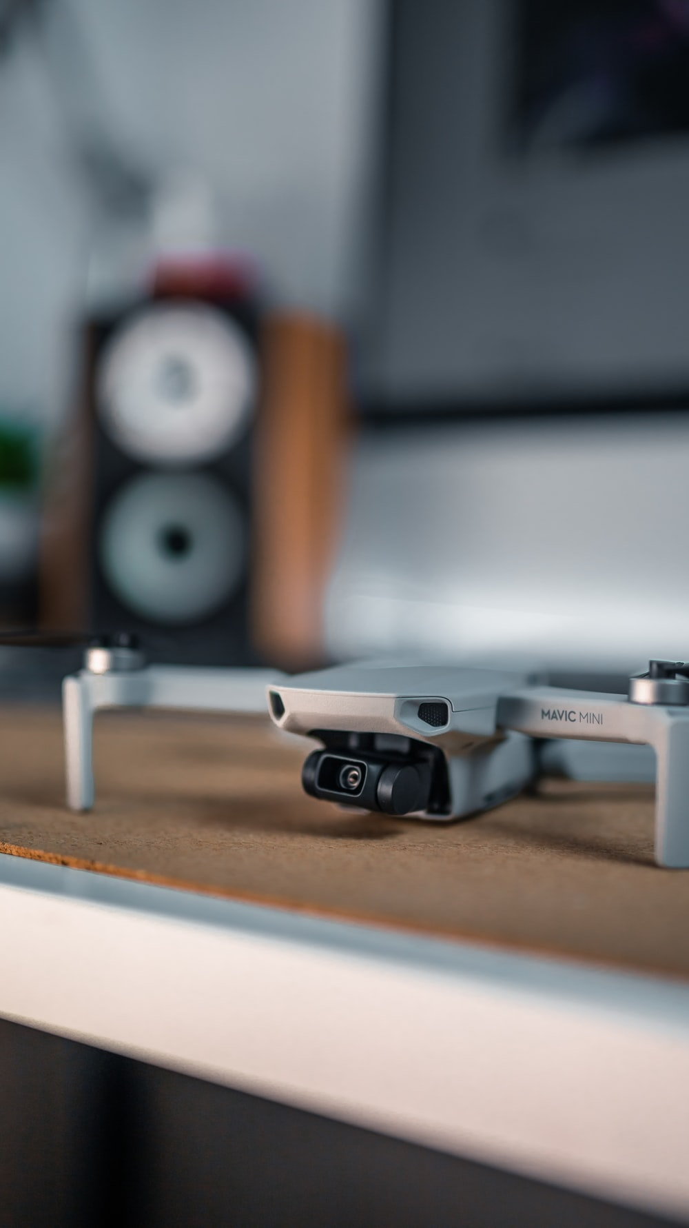 photo of black and gray drone