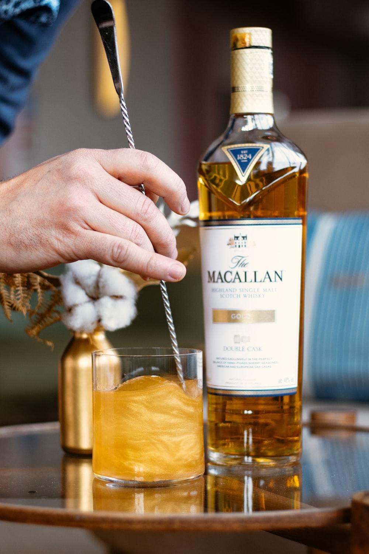Macallan liquor bottle