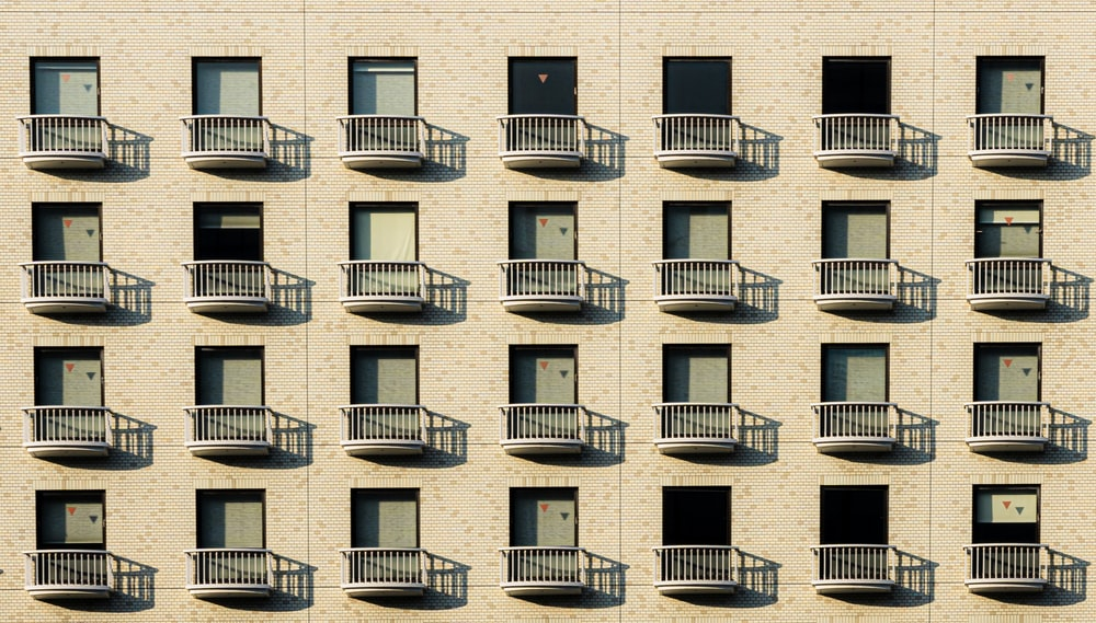 beige building windows