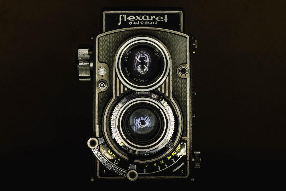 gray and black Flexaret land camera