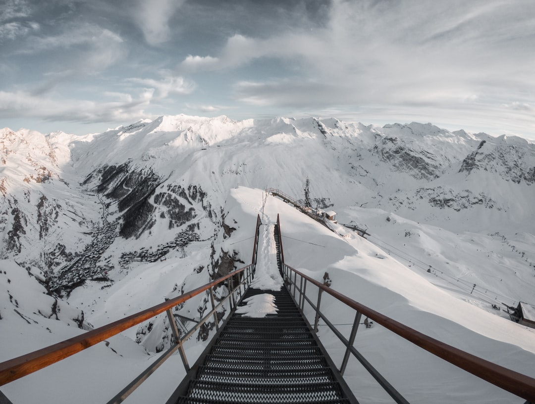 Ski resort with a view.