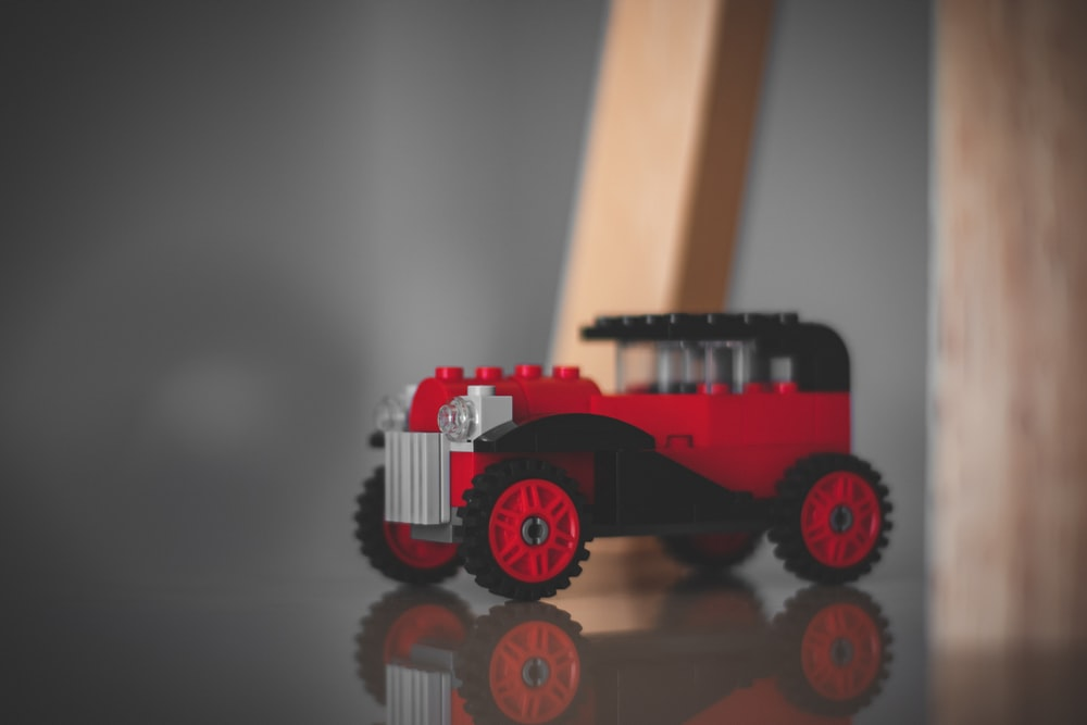 red and black brick classic vehicle toy