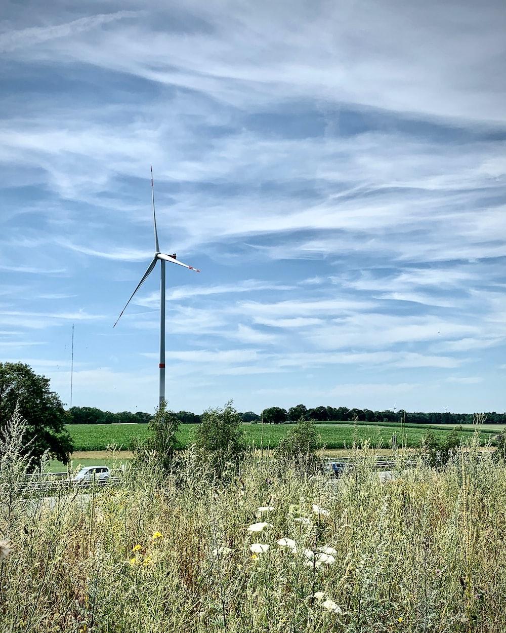 wind mill on field