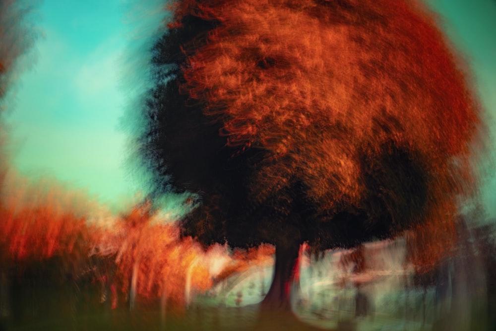 brown tree painting