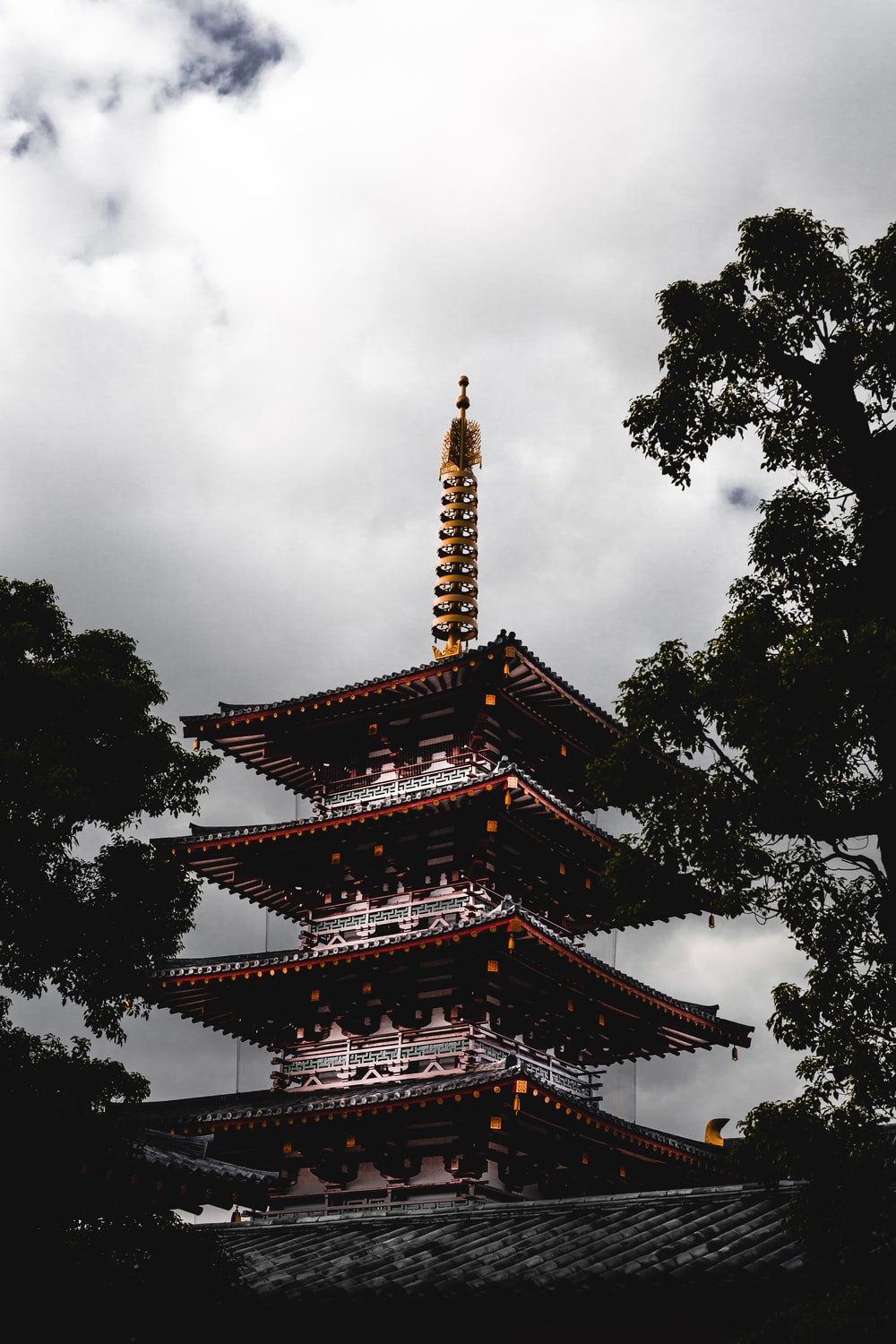 brown and white pagoda temple