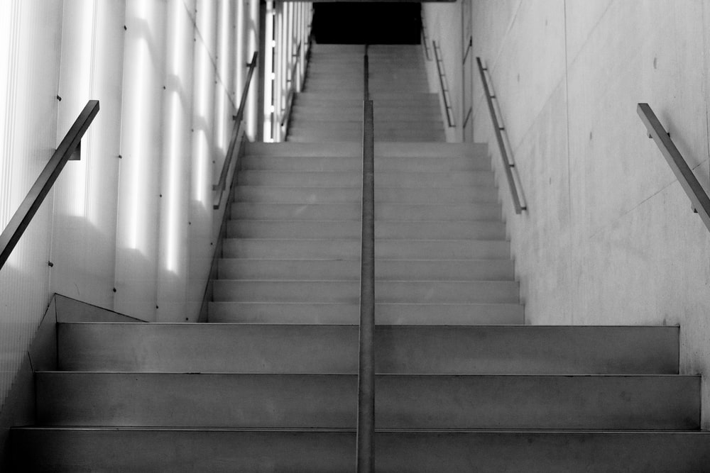 photography of empty stairway