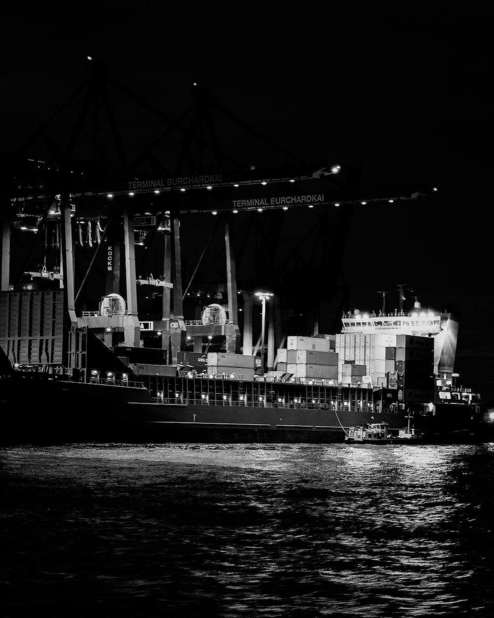 ship during night