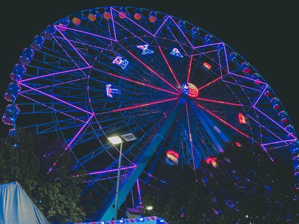 ferris wheel photograph during nighttime