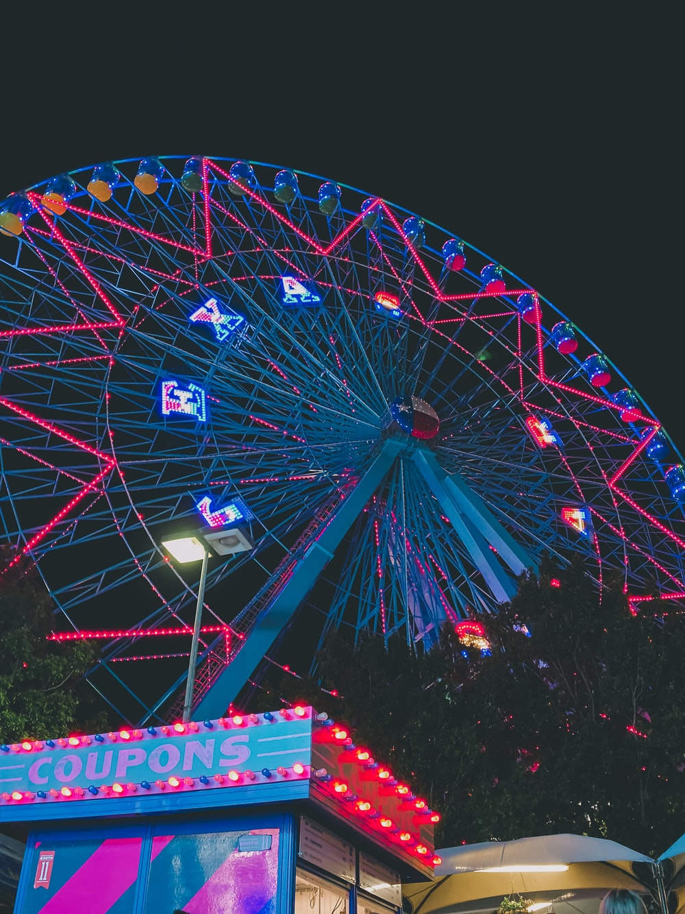 Ferris wheel during night