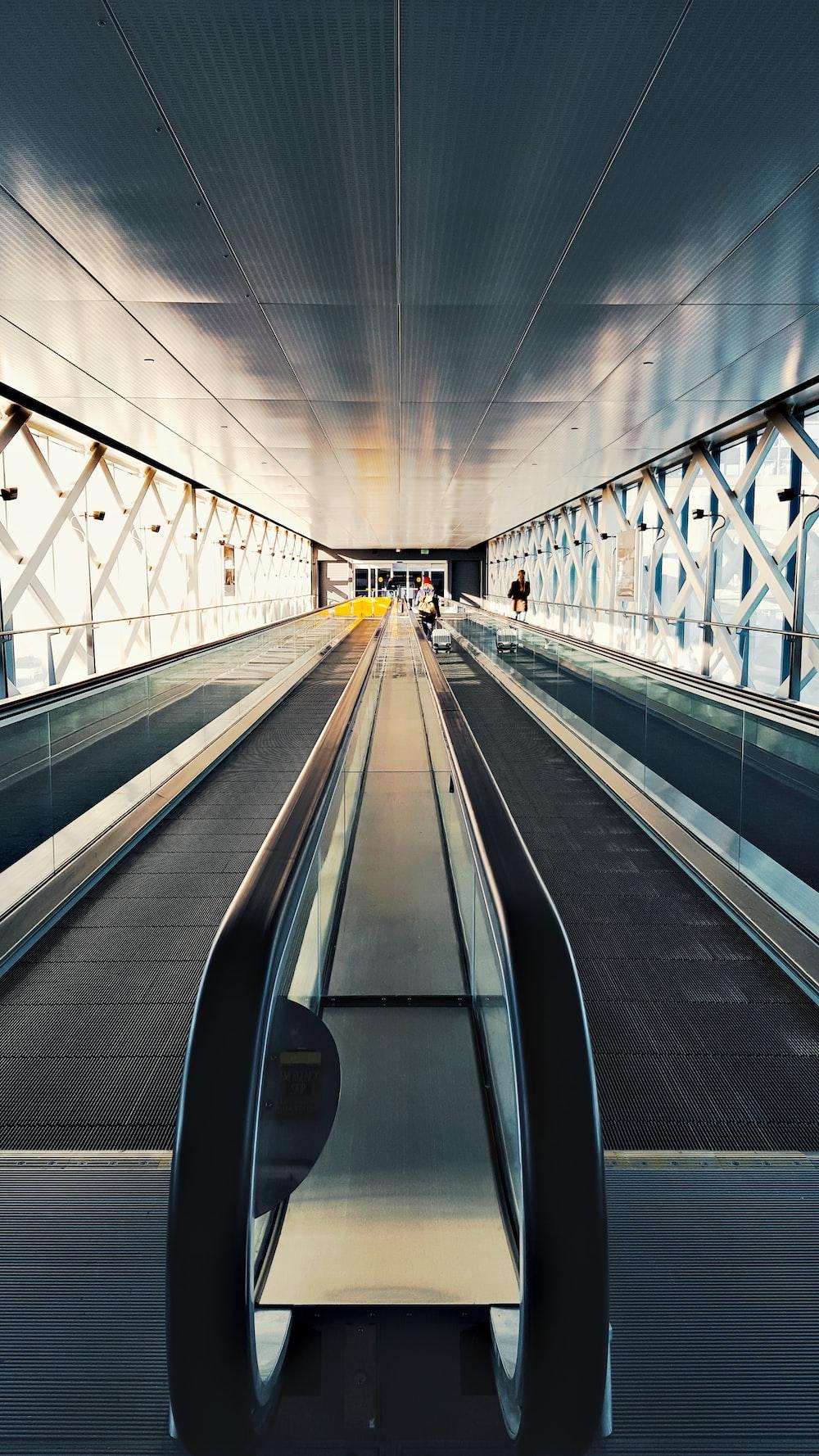 escalator inside building