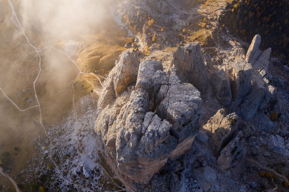 tp view of rock cliffs