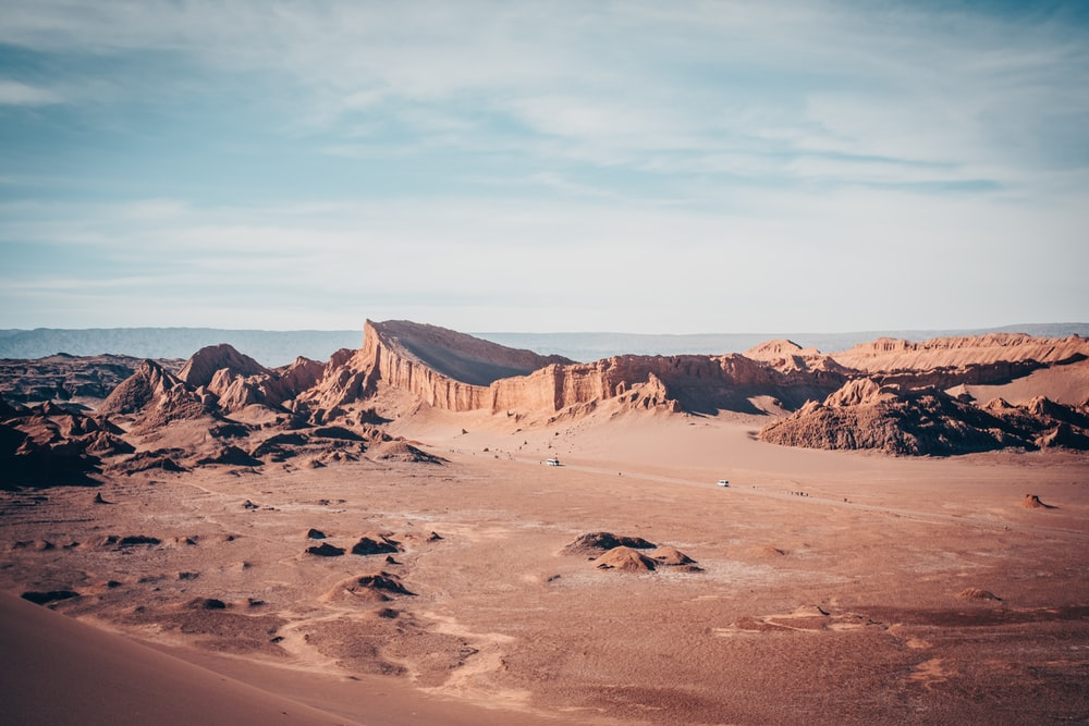wide-angle photography of desert during daytime