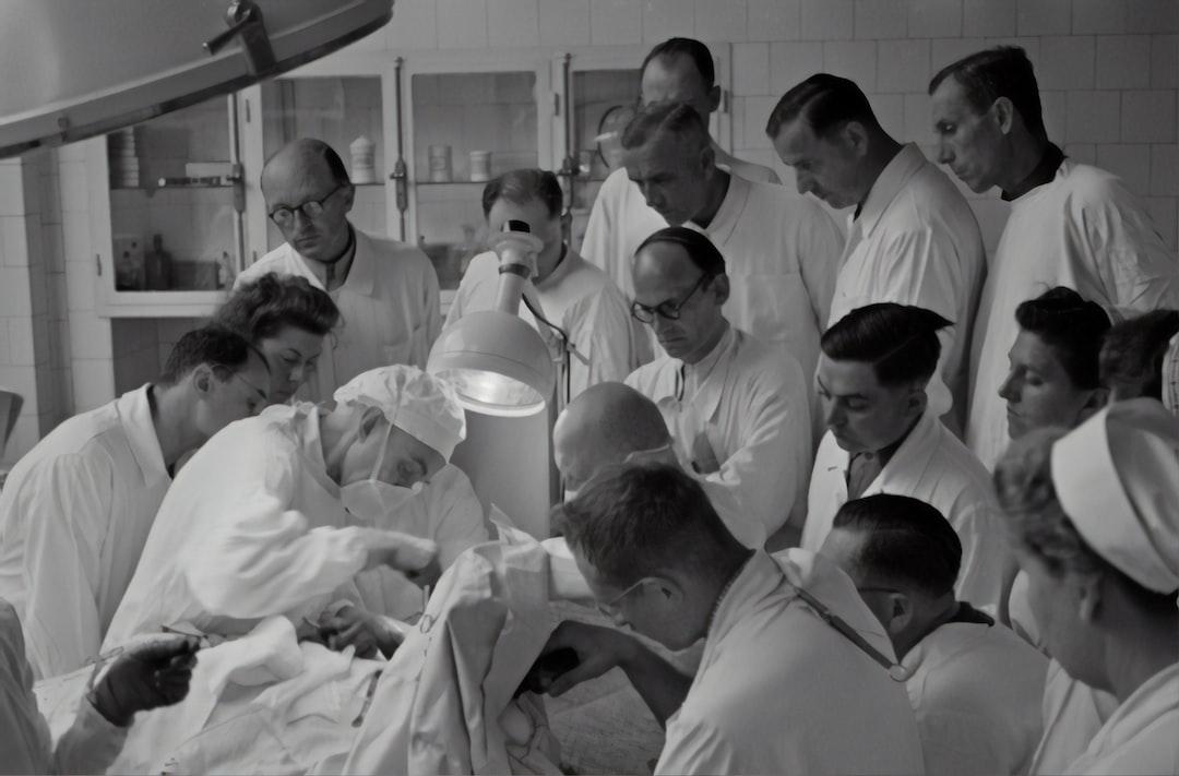 Reserve hospital Xla Boerhavegasse (Rudolfspital) Operation in the presence of interested doctors, around 1943