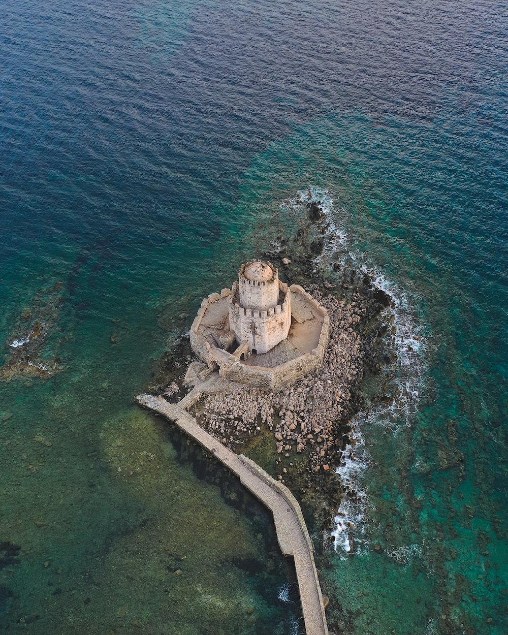 castle near sea