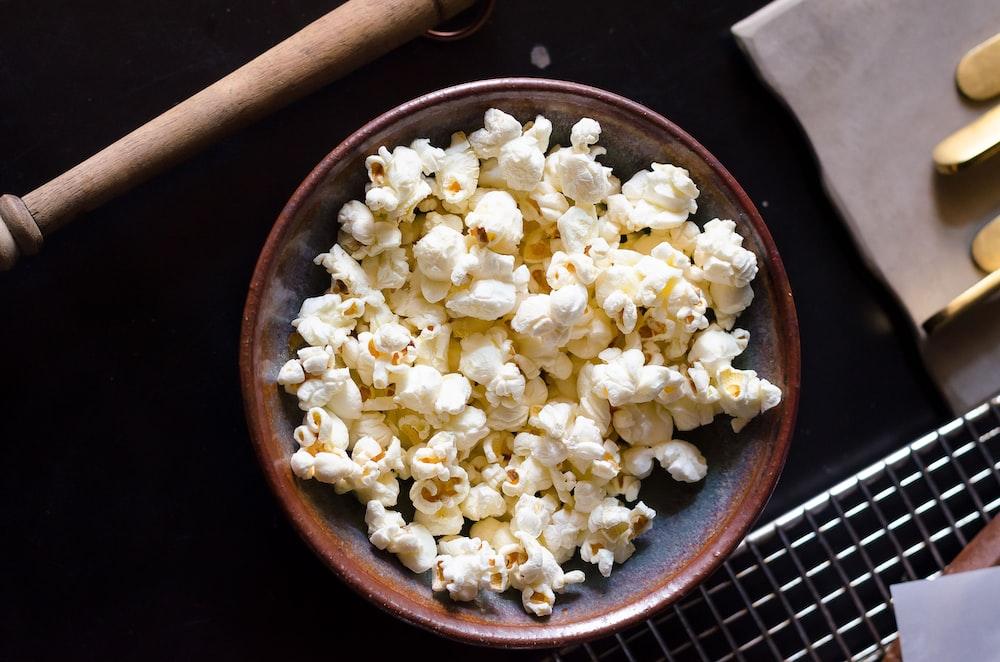 popcorn on bowl