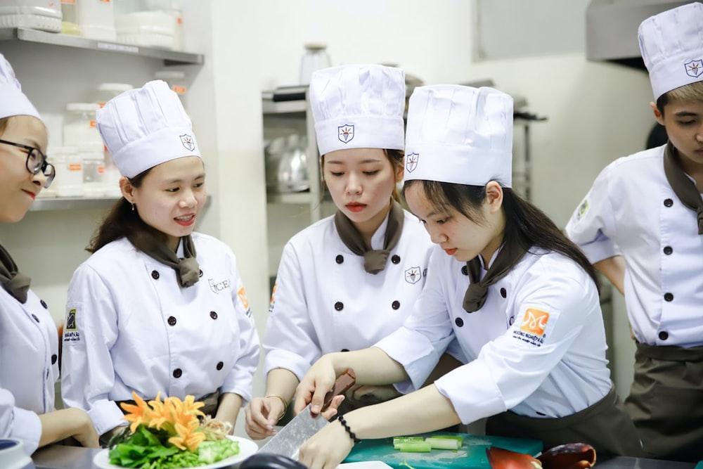 female chefs in kitchen